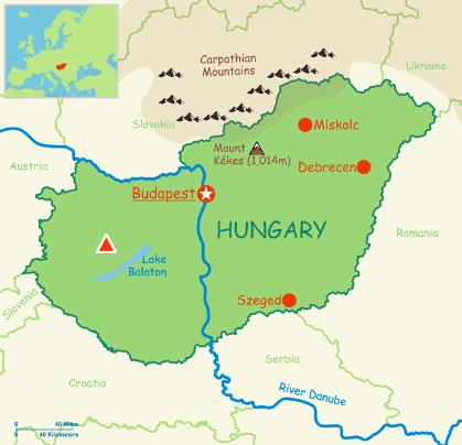 Hungary Map - EdWare