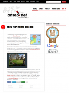 Anseo.net Know Your Ireland for iPad Review