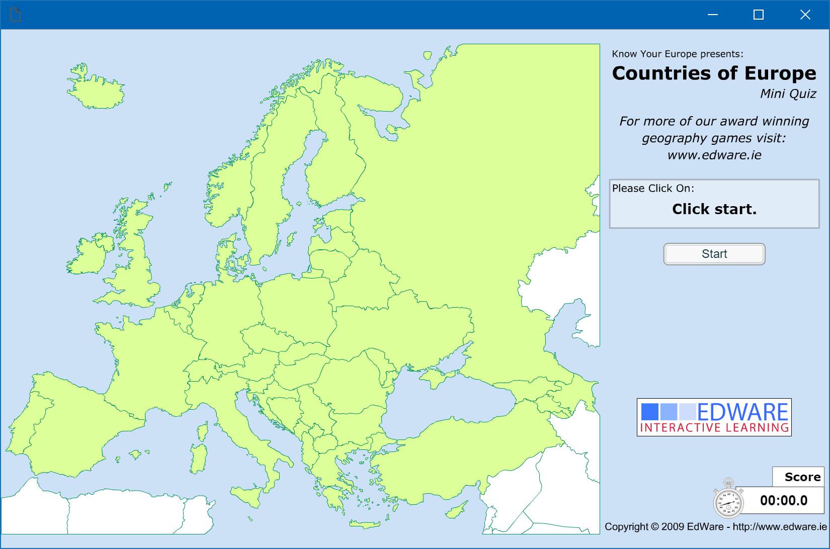 Countries of Europe: Mini Quiz
