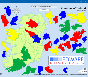 Map Of Ireland 26 Counties.Games Edware