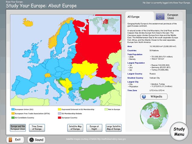 Know Your Europe - Study Europe Map