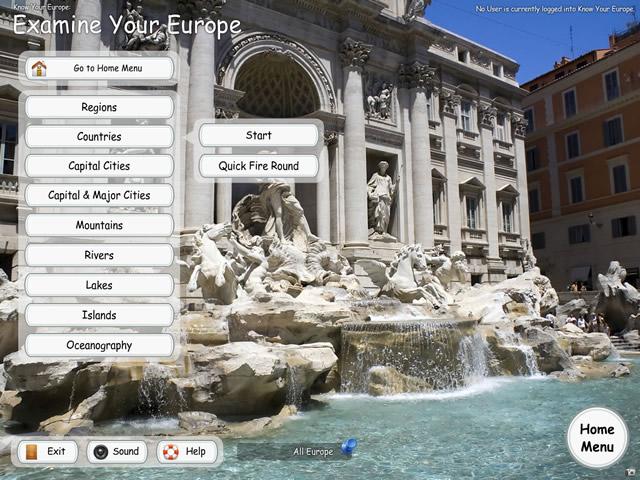 Know Your Europe - Study Menu