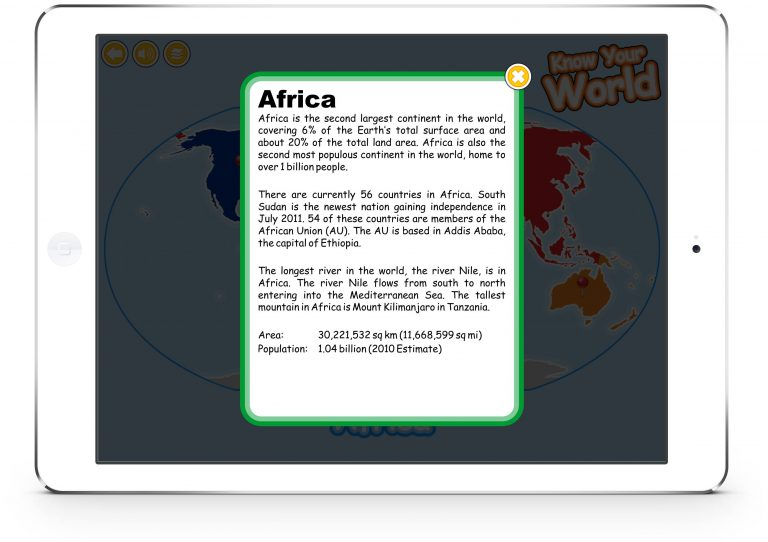 Know Your World for iPad