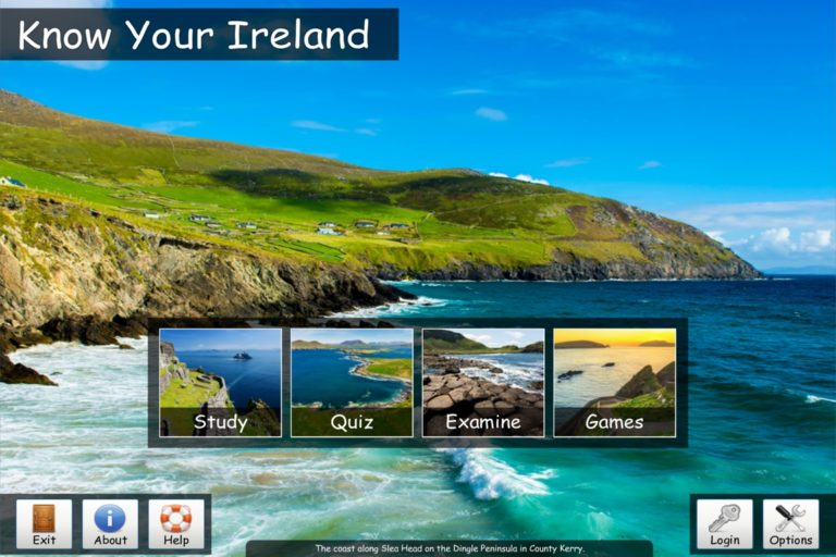 Know Your Ireland 4.0 - Main Menu