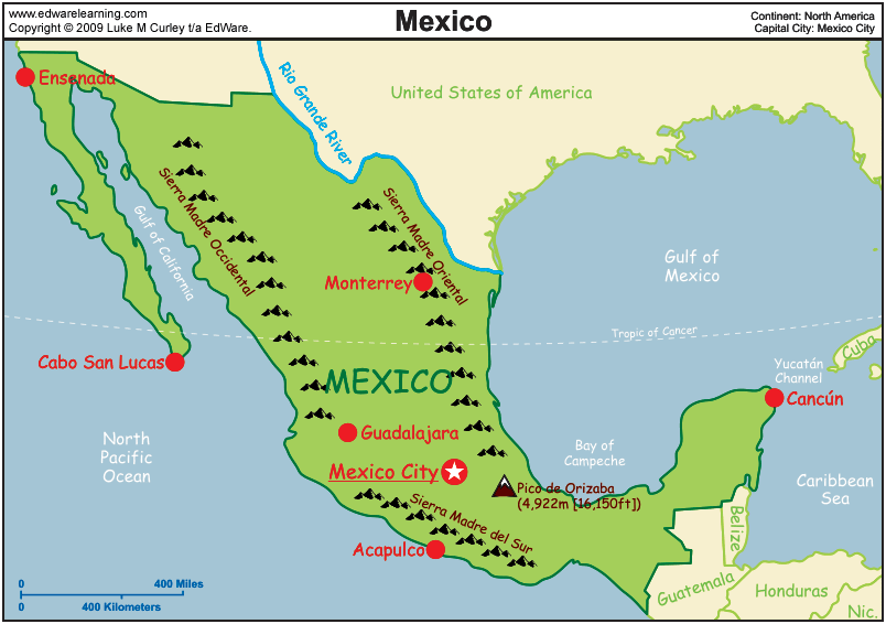 Mexico Map Edware