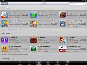 Know Your Ireland for iPad at #39 in the iPad App Store