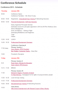 IPPN Conference 2013 - Schedule